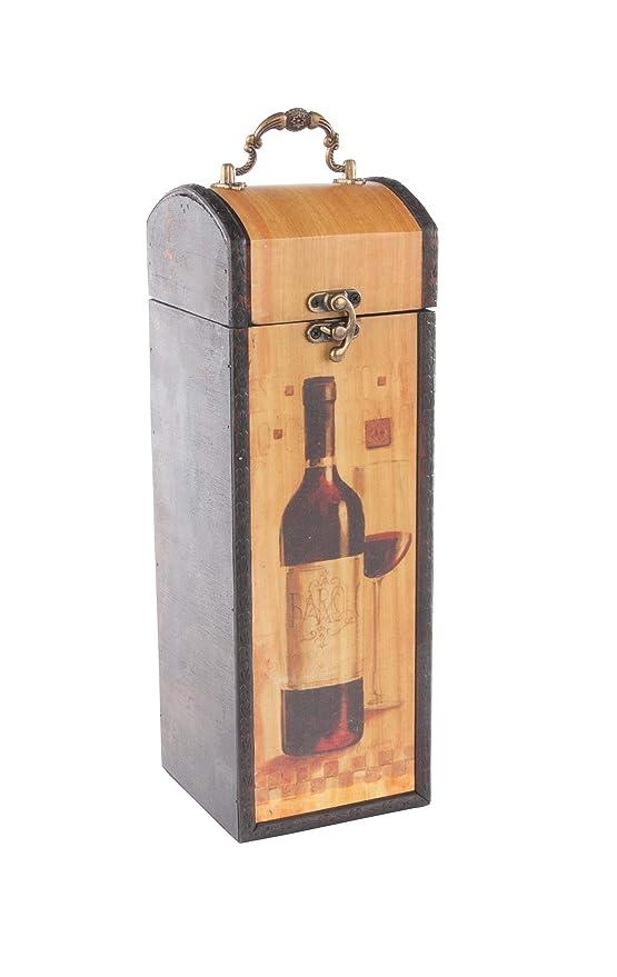 MYBOXES - Caja de Regalo para 1 Botella de Vino (10,8 x 11,5 x 32 ...