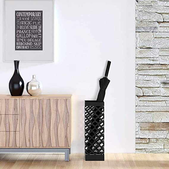 Nex portaombrelli Rack Holder for Home Office Decorazione Nero