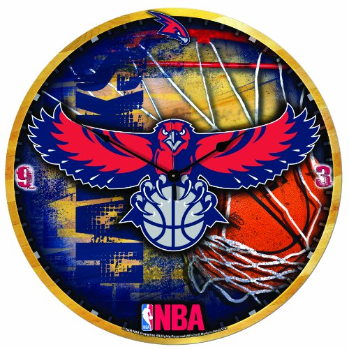NBA Atlanta Hawks 18-Inch High Definition Clock