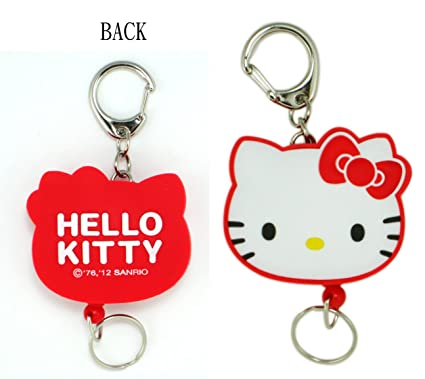 0d8b5f300 Image Unavailable. Image not available for. Color: Red Zip Pull Hello Kitty  Keychain ...