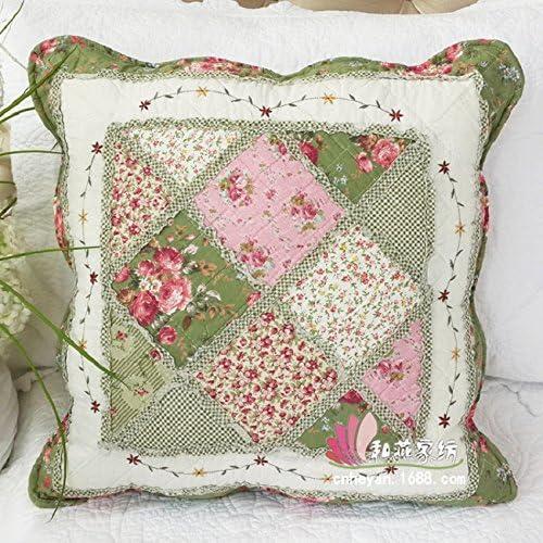 Beddingleer Fundas decorativas para almohada Verde Floral ...