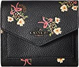 COACH Women's Small Wallet With Floral Bow Print Bp/Black One Size