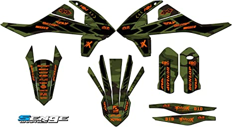 2019-2020 SX//SXF//XC//XCF Compatible with KTM Apache Green Base Senge Graphics kit