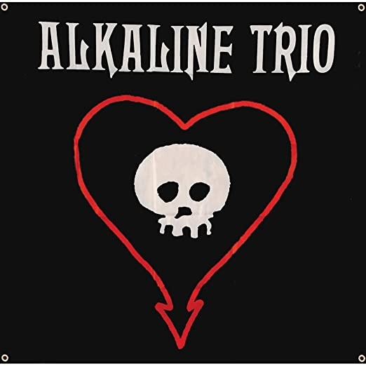 Amazon.com : Alkaline Trio - Skull Heart Flag Fabric Poster 46 x 46in :  Garden & Outdoor