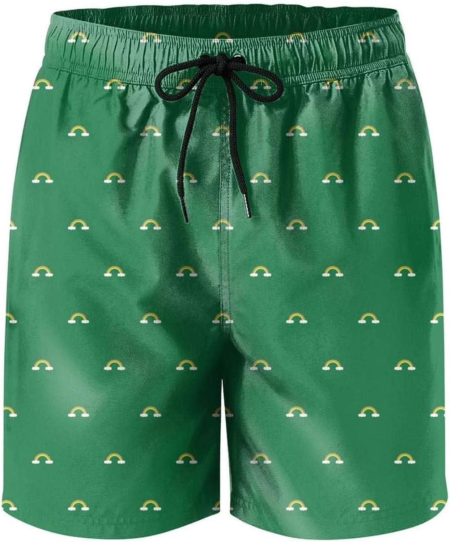 Mens LGBT Pride Flag Rainbow Beach Pants Pajama Shorts Mini Beach Pants for Men