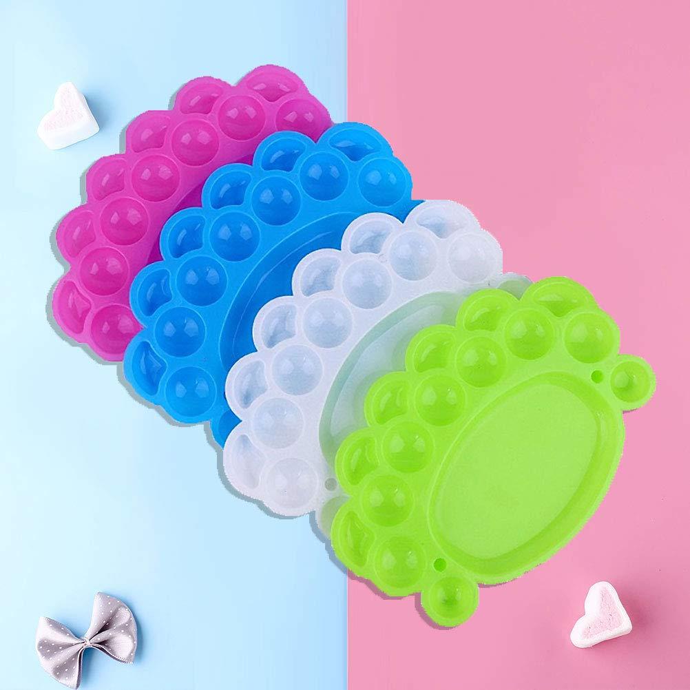 Amazon Com Frcolor 5pcs Plastic Palette Paint Tray For Kids
