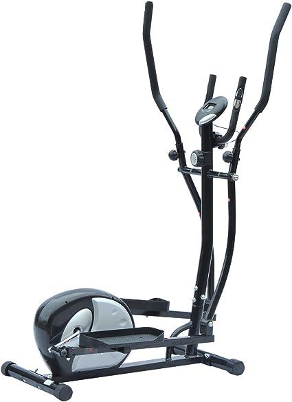 HOMCOM Bicicleta elíptica Bicicleta estática Cardio magnético con Contador LCD Manillar giratoria Acero Negro y Plata Neuf 98: Amazon.es: Deportes y aire libre