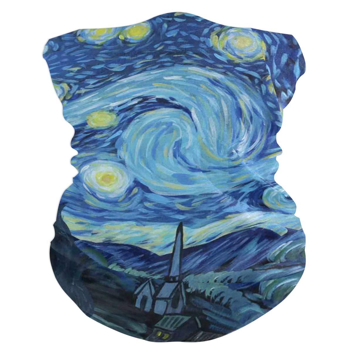 Starry Night Face Mask Sun Shield Neck Gaiter Headband Bandana Tube Scarf Mgic