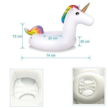 Haichen Unicorn Inflatable Swim Ring Niños Entrenador de Seguridad de Agua Float Seat - Natación Dispositivo de Aprendizaje para la Diversión de Verano: ...