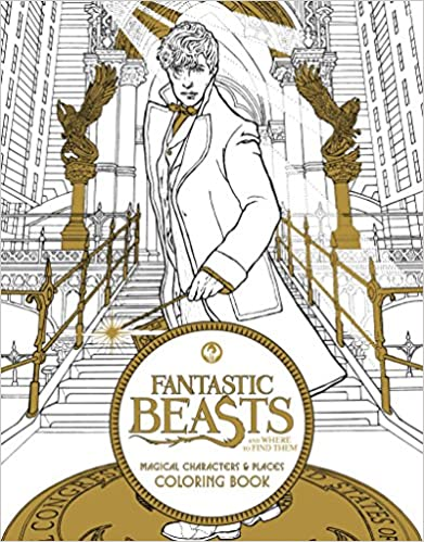 Fantastic Beasts and Where to Find Them: Magical Characters and Places Coloring Book – Harry Potter – HPB