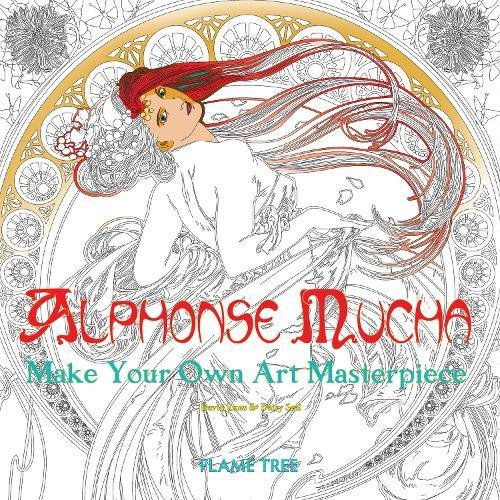 Alphonse Mucha Art Colouring Book