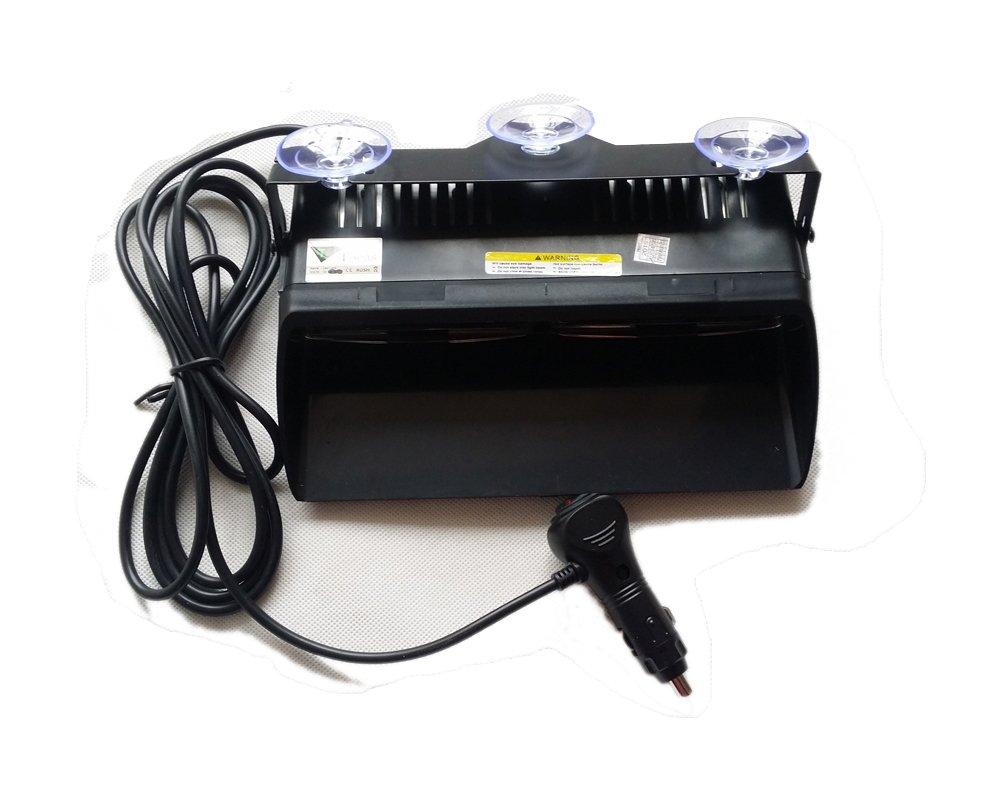 tablero de T Tocas Alta Intensidad 16 LED aplicaci/ón de la ley de polic/ía Polic/ía L/ámparas de peligro de advertencia de emergencia luces estrobosc/ópicas para el veh/ículo del carro del coche SUV interior del techo