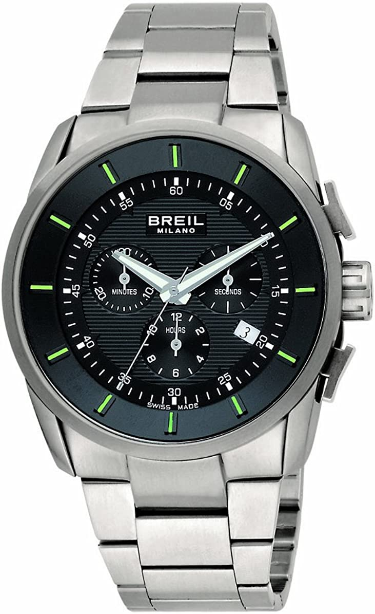 Breil Milano BW0491 - Reloj de Caballero de Cuarzo, Correa de Acero Inoxidable Color Plata