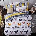 4pcs/set Animal Design Children Bedding Set Duvet Cover Set Duvet Cover Bedsheet Pillowcase Twin Full Queen Fox Family Design