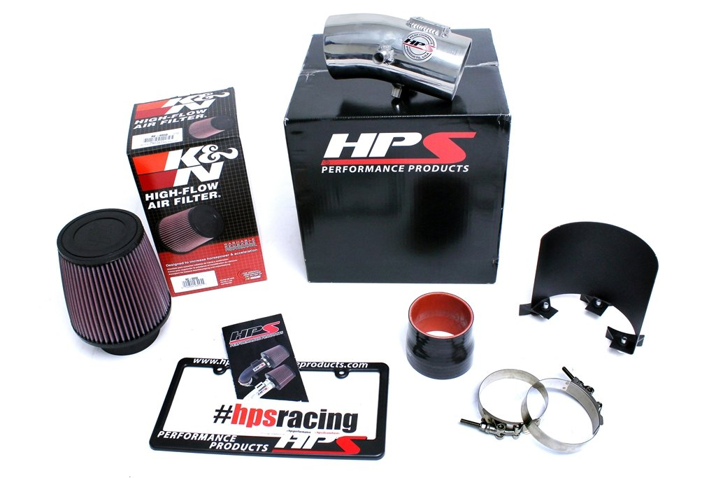 Cool Short Ram SRI HPS 27-533WB Black Shortram Air Intake Kit with Heat Shield