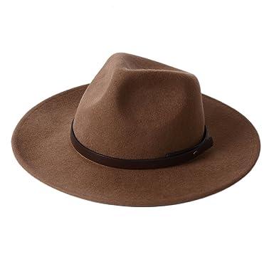af8e375567d Fedora Hat 100% Wool Felt Panama Crushable Vintage With Front Center ...