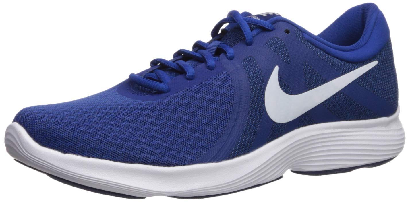 Nike Men's Revolution 4 Running Shoe, Indigo Force/White - Blue Void, 14 Regular US by Nike