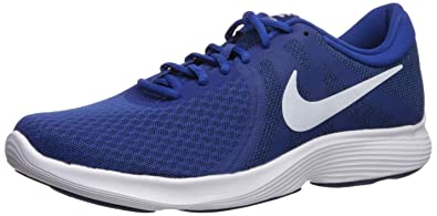blue nike shoes