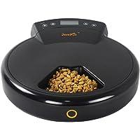 GemPet 5 comidas Alimentador programable automático para mascotas, con grabador de voz, dispensador de alimentos secos y húmedos, para perros pequeños y gatos