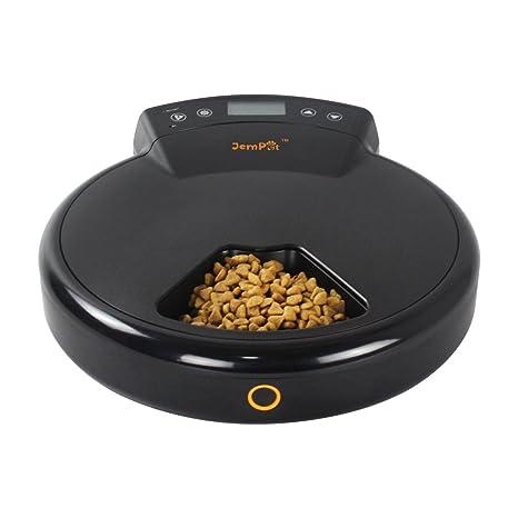 GemPet 5 comidas Alimentador programable automático para mascotas, con grabador de voz, dispensador de