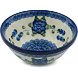 Polish Pottery Cereal / Soup Bowl 5-inch (Blue Poppies)