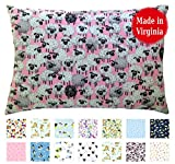 Toddler Pillowcase (14'' x 19'') - 100% Cotton Percale - Envelope Style - Made in Virginia (Pink Flock)