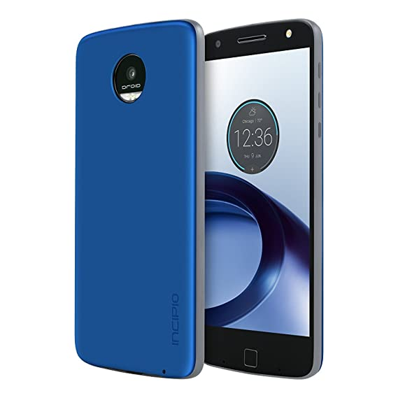 new product 4e2bd e802a Moto Z Force Droid Case [Aluminum] Incipio Back Plate for Moto Z Force  Droid Smartphone - Iridescent Nautical Blue