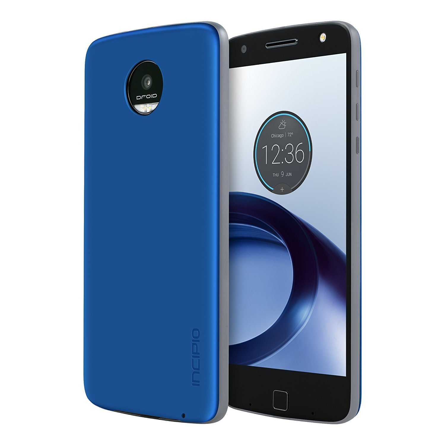 Moto Z Force Droid Case [Aluminum] Incipio Back Plate for Moto Z Force Droid Smartphone - Iridescent Nautical Blue