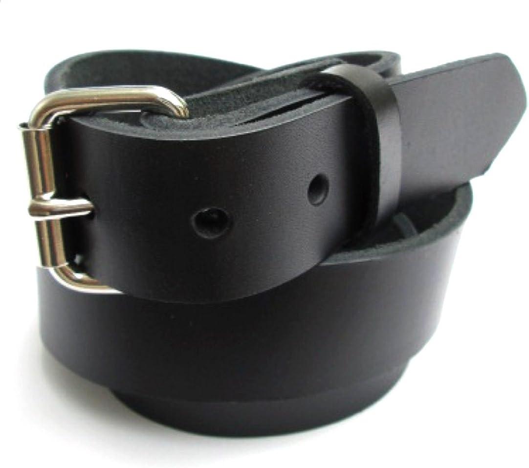 Mens Heavy Duty Black Leather Belt 1 1//4 Wide