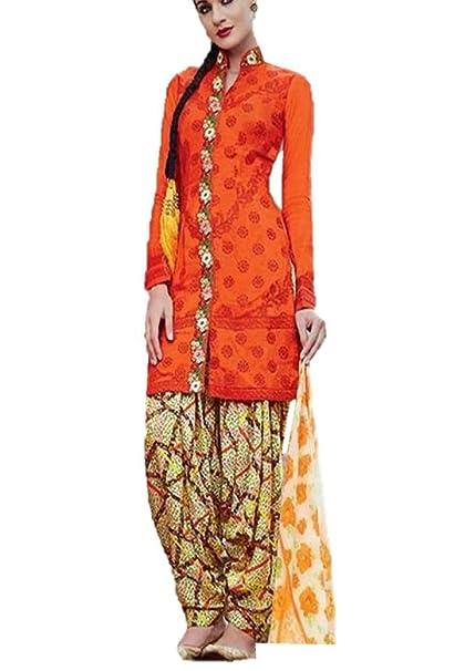 0256ae29c1 Fashion4us Pakistani Salwar Kameez Ladies Suit Cotton Satin Indian Outfit:  Amazon.co.uk: Clothing