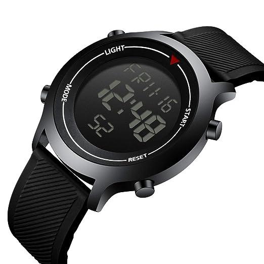 Relojes para Hombre, Impermeables, multifunción, Digital, Deportivo, con Alarma, Fecha