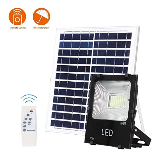 WFTD Proyectores solares 100W Impermeable al Aire Libre IP65 6000 ...
