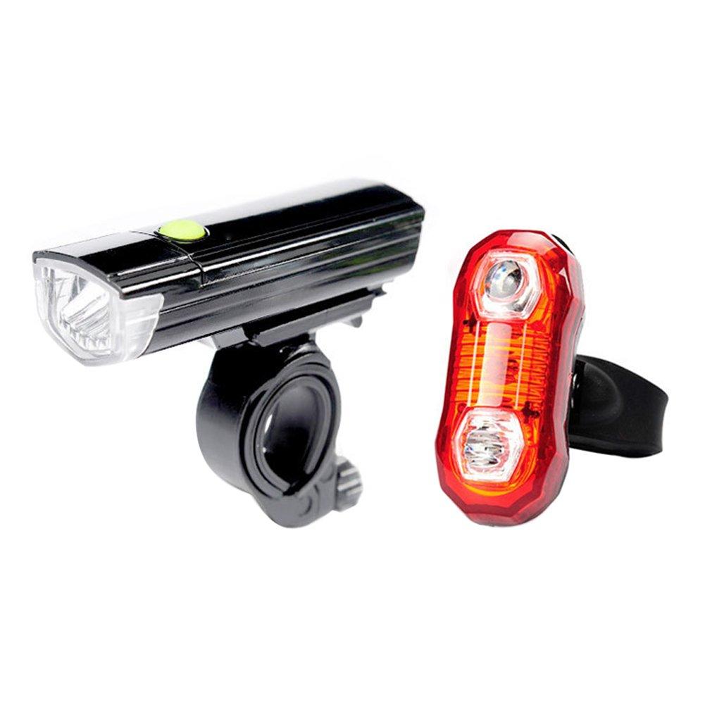 Luces de Bicicleta Delantera y Trasera 3 modos de luz delantera de la bicicleta + conjunto de luces traseras de advertencia para montar en bicicleta de montaña - Instalación Fácil - Bici de Carretera o Montaña - Matefielduk