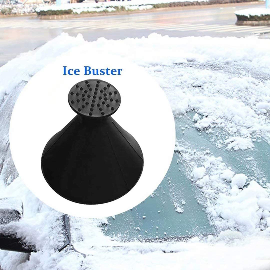 Huameng Magical Car Ice Scraper Car Snow Removal Shovel Tool for Car Bus Truck Round Windshield Ice Scraper Cone-Shaped Car Windshield Ice Scraper