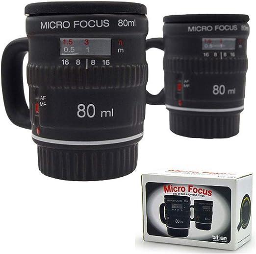 Juego de 2 tazas de café con forma de objetivo de cámara réflex ...