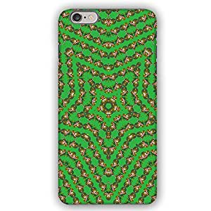 Kaleidoscope Christmas Bear with Candy Cane iPhone 6 Plus Armor Phone Case by lolosakes