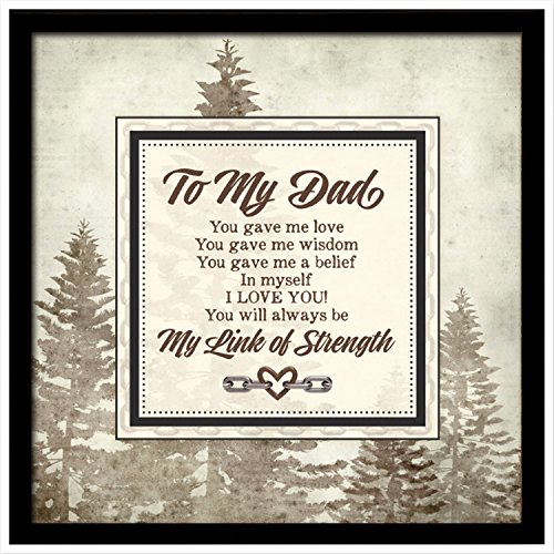 To My Dad...Links of Strength Framed (Plaque Link)