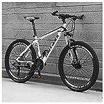 61jP4D68dcL. SS150 Bicicletta, Pieghevole Bicicletta Mountain Bike, 26 Pollici 24 velocità Biciclette, Bicicicletta MTB, Assorbimento degli…