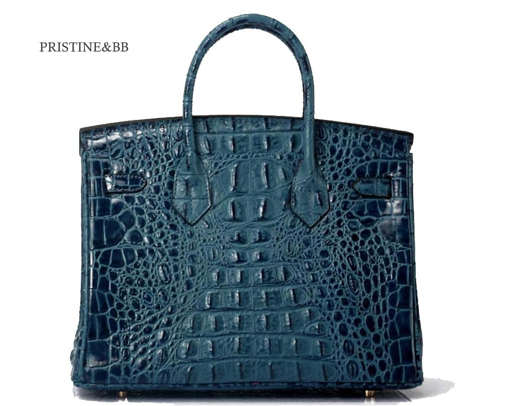 5a51feadc9f Amazon.com : Vintage Alligator Birkin Style Bag Purse Tote Handbag : Sports  & Outdoors