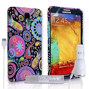 Yousave Accessories diseño de medusas de silicona con cargador de coche para Samsung Galaxy Note 3