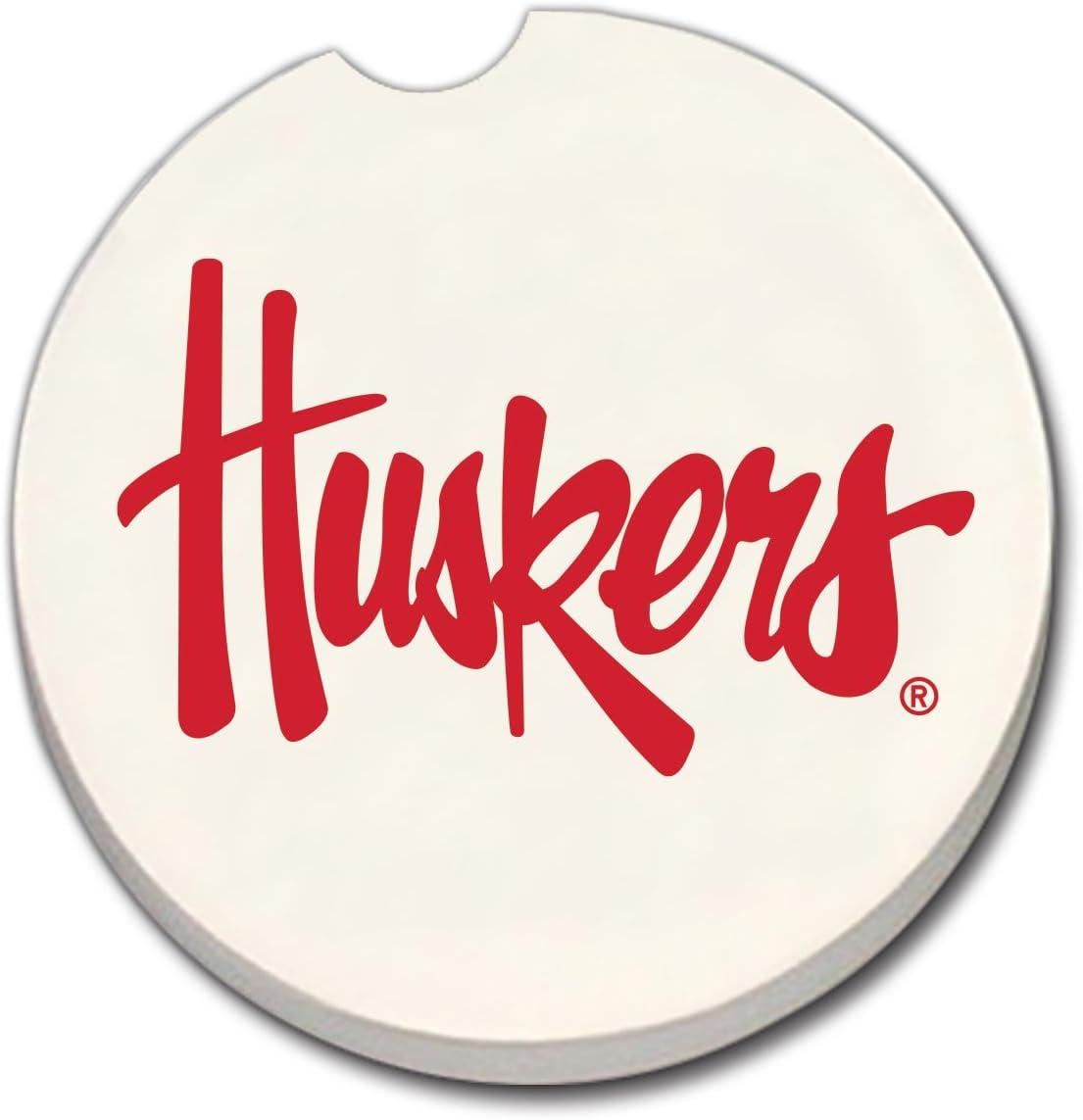 NCAA Nebraska Huskers absorbente coche posavasos: Amazon.es: Hogar