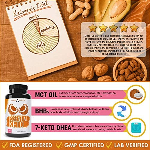 Keto Pills - Ultra Fast Keto Boost Supplement and Ketogenic Accelerator with Coconut MCT Oil, BHB Exogenous Ketones, and 7-Keto DHEA - Best Keto Diet Pill for Women and Men - 60 Capsules 4