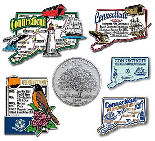 Connecticut Set - Six-Piece State Magnet Set - Connecticut
