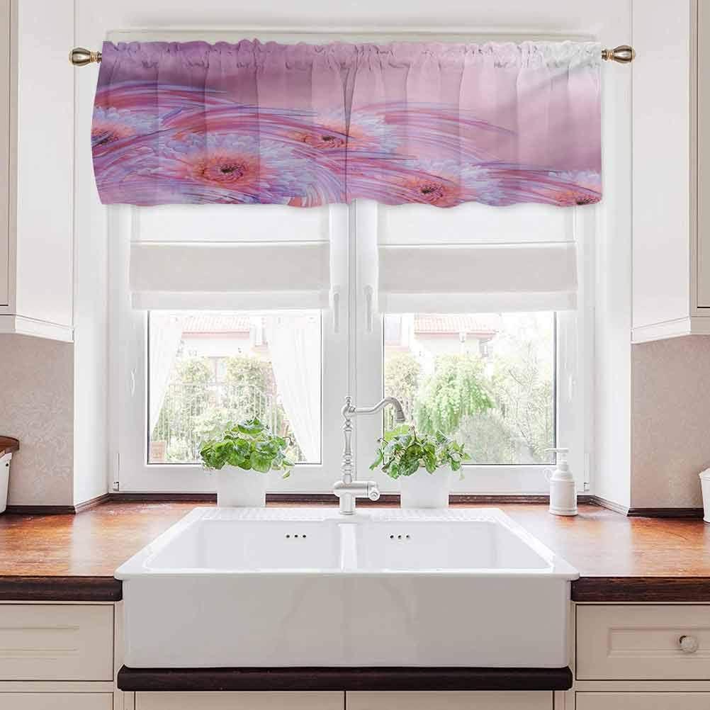 carmaxs Floral Bathroom Curtains Window, Sunny Hazy Dahlia Flower Background Nature Essence Fragrance Beauty, 54