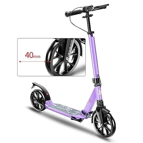 Scooter Patinete Plegable con Mango Ajustable, absorción de ...