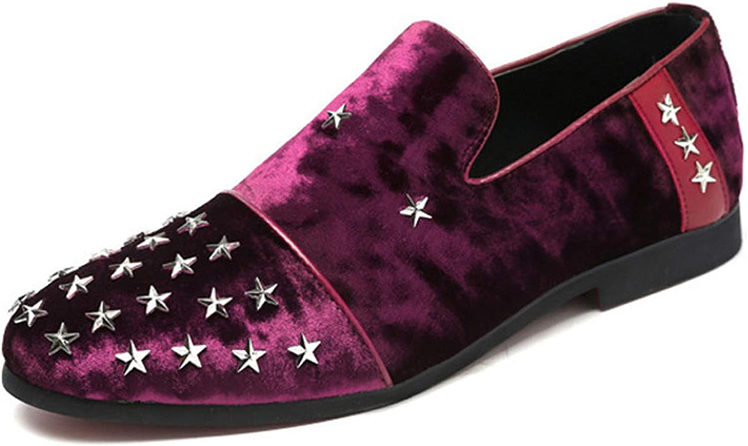 Thadensama Mens Shoes Casual Faux Suede Loafers Slip On Stars Design Round Toe Shoes Men Fashion Mens Shoes Fashion 2018