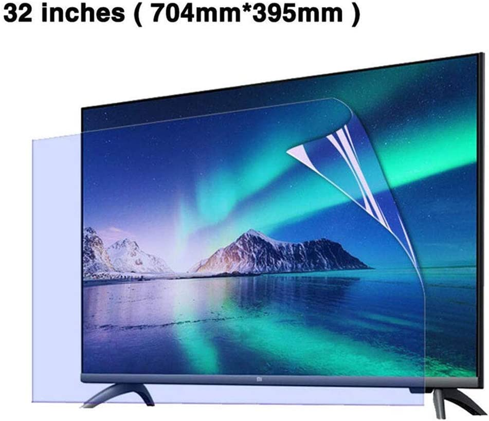 LED Display Screen Protector,704mm395mm LOOML 32 inch Anti Blue Light HD TV Screen Protector Eye Protection Screen Protector