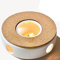 TAMUME Porcelana Clásica Calentador de Tetera con Seguro