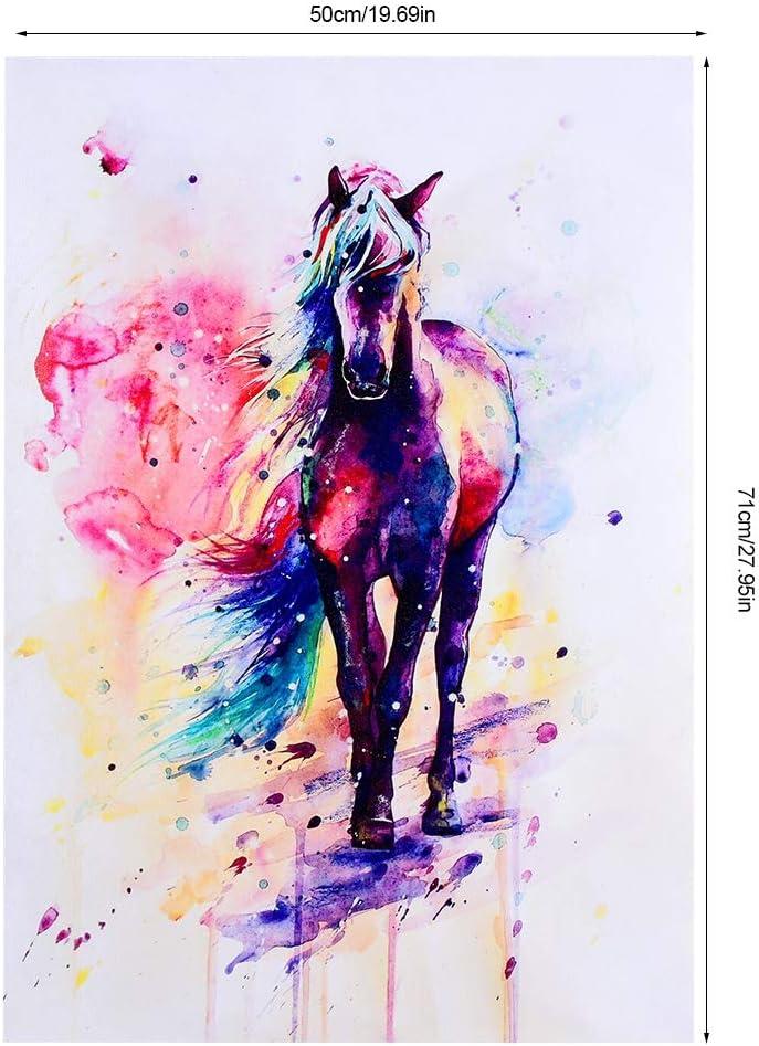 40*57cm TOPINCN Impression sur Toile murale Aquarelle Cheval Animal Art Peinture /à lhuile Peinture Peinture Murale Tableau sur Toile D/écoration Maison Salon