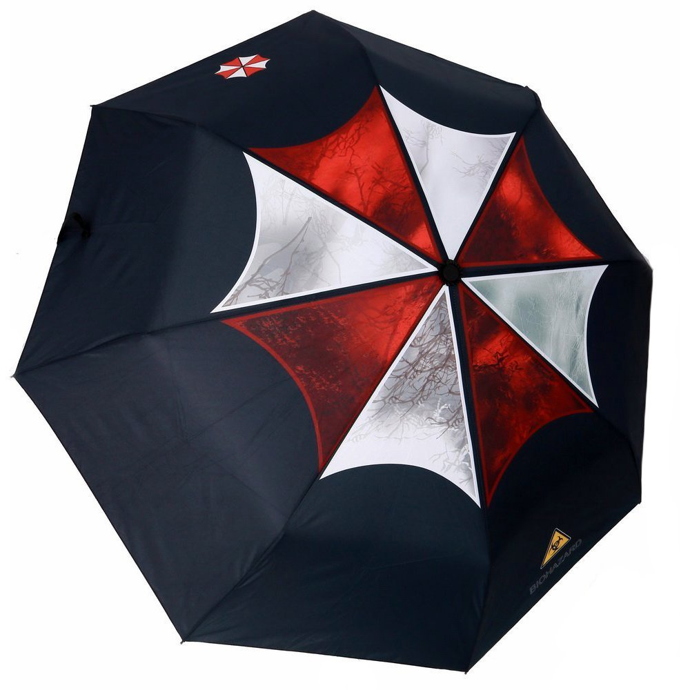 MyLifeUNIT Resident Evil Umbrella Corporation Umbrella Folding Compact OD15L033